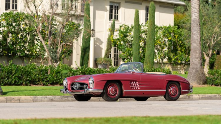 Red 1957 Mercedes-Benz 300 SL Roadster