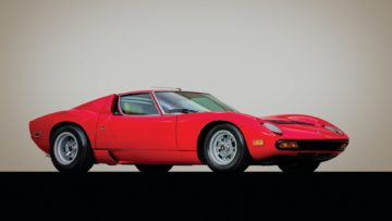 1971 Lamborghini Miura P400 SV by Bertone on offer at RM Sotheby's Arizona 2020 sale during Scottsdale Week