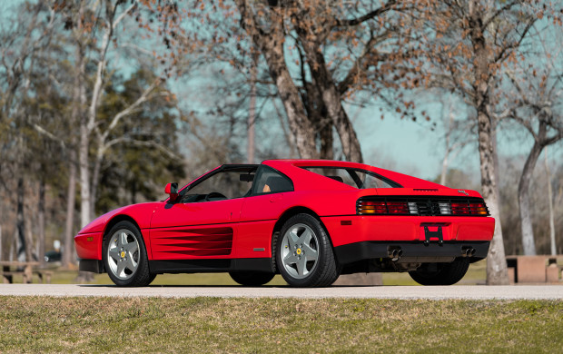 Red 1990 Ferrari 348 TS
