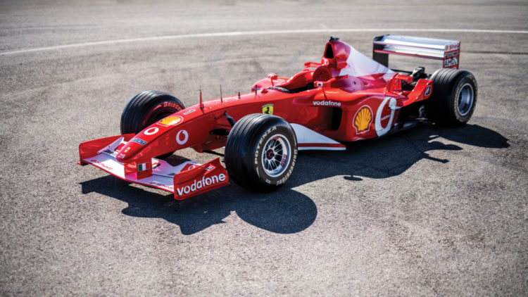 Michael Schumacher's 2002 Ferrari F2002 F1 Car