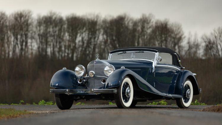 1935 Mercedes Benz 500K Cabriolet A on offer at Bonhams Paris 2020 Sale