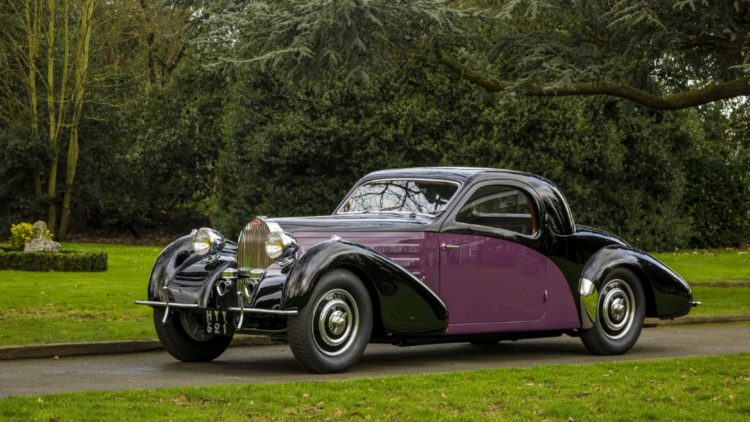 1938 Bugatti Type 57 'Atalante' Coupé on offer at Bonhams Paris 2020 Sale