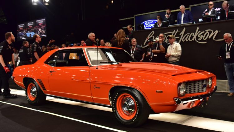 1969 Chevrolet Camaro ZL1 COPO sold at Barrett-Jackson Scottsdale 2020