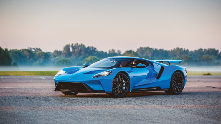 Blue 2017 Ford GT on offer at RM Sotheby's Arizona Auction 2020