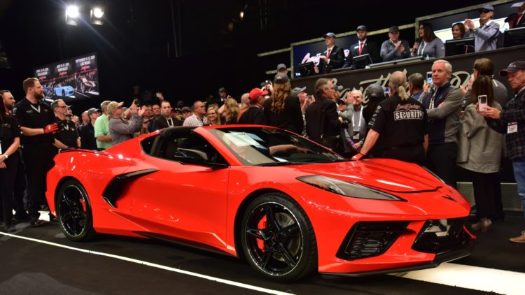 2020 Chevrolet Stingray VIN 001 sold at Barrett-Jackson Scottsdale 2020
