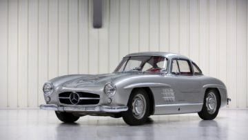 Silver 1954 Mercedes-Benz 300 SL Gullwing sold at RM Sotheby's Paris 2020 auction