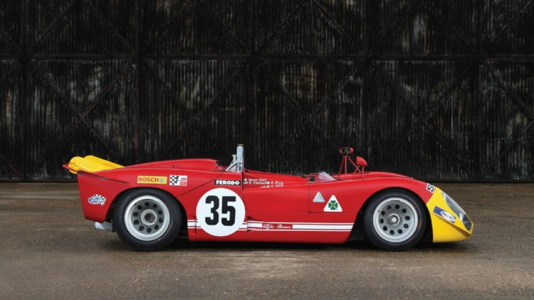 1969 Alfa Romeo Tipo 33/3 profile on offer at RM Sotheby's Monaco Sale 2020