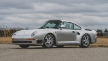 Silver 1987 Porsche 959 Komfort on offer at RM Sotheby's Amelia Island 2020 Sale