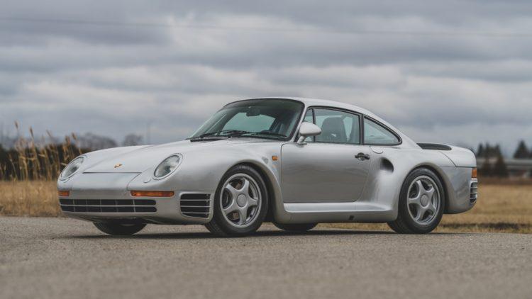 Silver 1987 Porsche 959 Komfort on offer at RM Sotheby's Amelia Island 2020 Sale