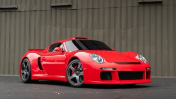 Red 2009 RUF CTR3 on offer at Gooding Amelia Island Sale 2020