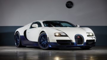 White 2012 Bugatti Veyron 16.4 Super Sport sold at RM Sotheby's Paris 2020 auction