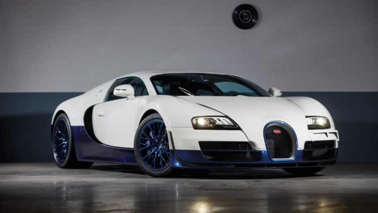 White 2012 Bugatti Veyron 16.4 Super Sport sold at RM Sotheby's Paris 2020 auction