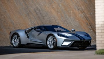 Silver 2017 Ford GT on offer at Gooding Amelia Island Sale 2020