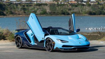 Blue 2017 Lamborghini LP 770-4 Centenario Roadster on offer at Gooding Amelia Island Sale 2020