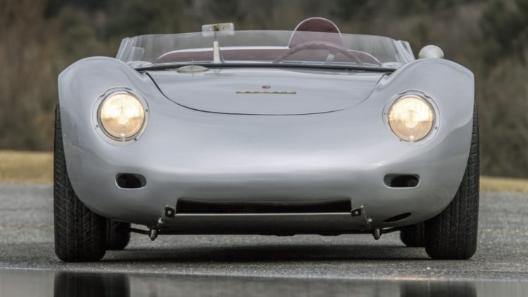 1959 Porsche 718 RSK Spyder Front on offer at Bonhams Greenwich 2020