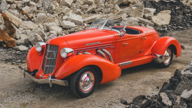 Orange 1935 Auburn Eight Supercharged Speedster at RM Sotheby's Auburn Fall Sale 2020