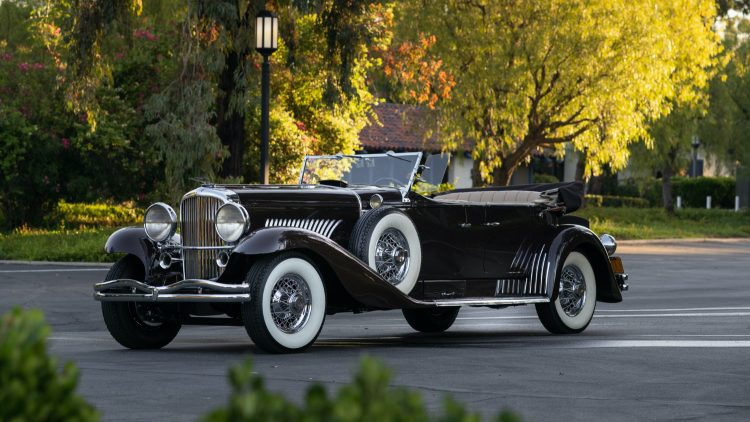 1936 Duesenberg Model J Tourster at RM Sotheby's Auburn Fall Sale 2020
