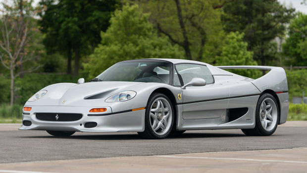 Silver 1995 Ferrari F50 at Gooding Geared Online Sale 2020