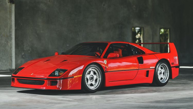 1991 Ferrari F40 (Est. $1,250,000 - $1,500,000) on offer in the RM Sotheby's Online Only Shift / Monterey 2020 Sale