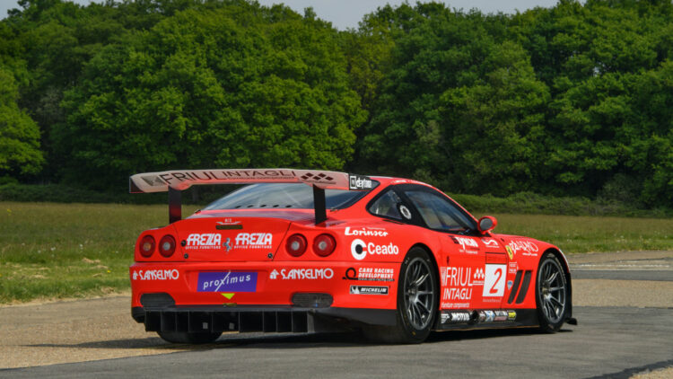 Rear 2001 Ferrari 550 GT1 Prodrive on offer at RM Sotheby's Online-Only Shift / Monterey Sale 2020