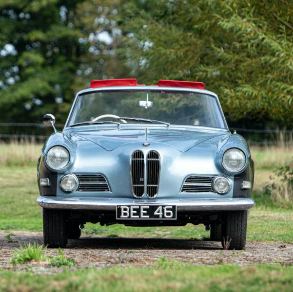 Ex-John Surtees 1957 BMW 503 Cabriolet on offer at Bonhams Goodwood Speedweek 2020 front