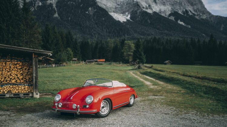 Red 1955 Porsche 356 Carrera 1500 GS Speedster