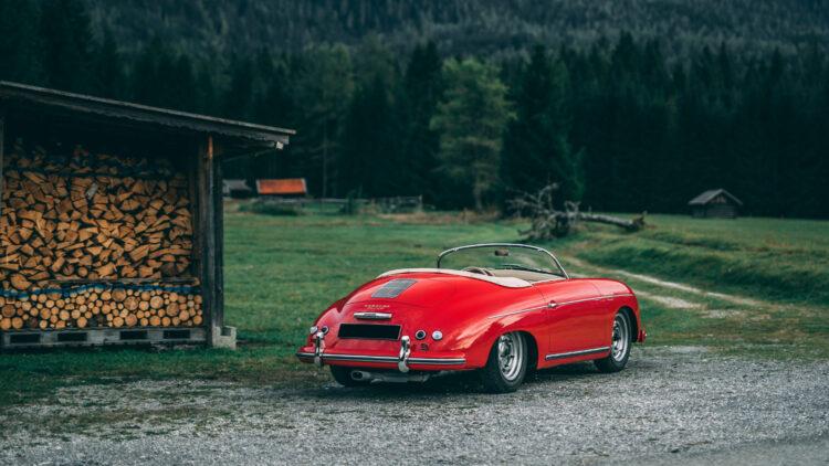 Rear 1955 Porsche 356 Carrera 1500 GS Speedster