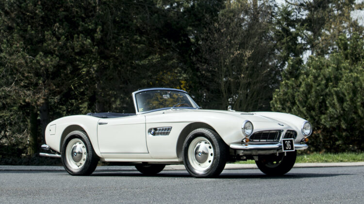 A 1959 BMW 507, first owned by King Constantine II of Greece, was the top lot at the Bonhams Zoute Sale 2020 selling for a mid-estimate €2,070,000 ($ 2,441,565).