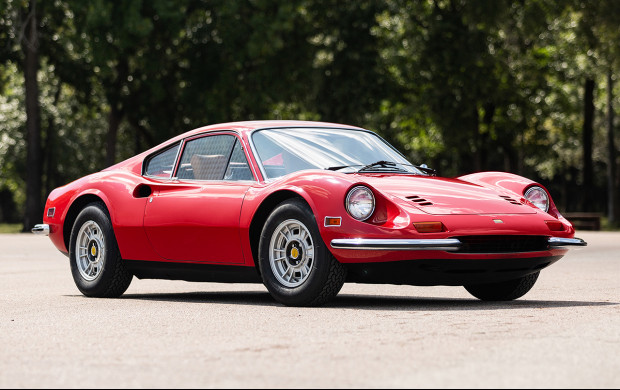 Red 1972 Ferrari Dino 246 GT on offer in the Gooding Geared Online October 2020 Sale