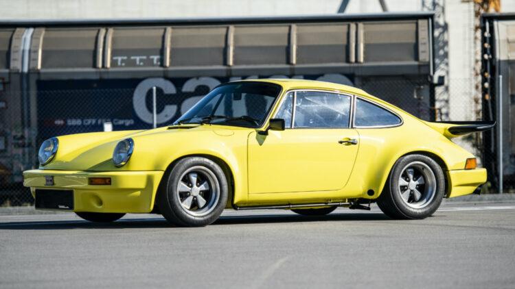 Yellow 1974 Porsche 911 Carrera RS 3.0