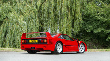 1991 Ferrari F40 Berlinetta on offer at the Bonhams Goodwood SpeedWeek Sale 2020