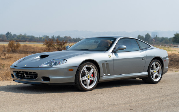 Silver 2005 Ferrari 575M on offer in the Gooding Geared Online October 2020 Sale