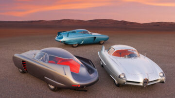 Alfa Romeo Berlina Aerodinamica Tecnica (B.A.T.) Concept Cars on offer at Sotheby's New York Contemporary Art Evening Sale 2020