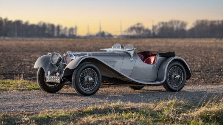 1938 SS 100 Jaguar 3½-Litre Roadster at RM Sotheby's Arizona (Scottsdale) 2021 Sale