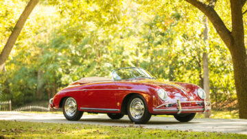 Red 1958 Porsche 356A 1600 T2 Speedster at Bonhams Scottsdale Sale 2021.