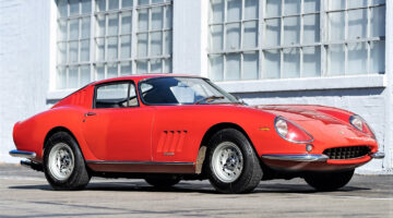 Red 1966 Ferrari 275 GTB Long Nose on offer at the Gooding Scottsdale classic car auction 2021.