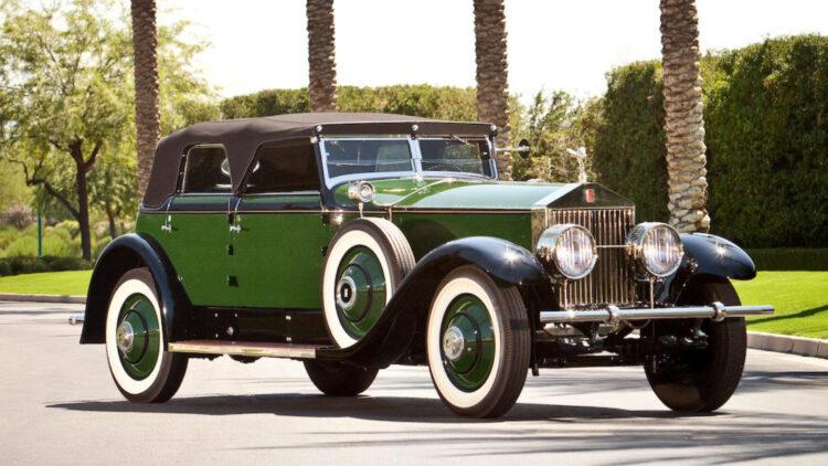 Ex-Marlene Dietrich 1929 Rolls-Royce Phantom I Transformable Phaeton sold in 2012 Bonhams Scottsdale
