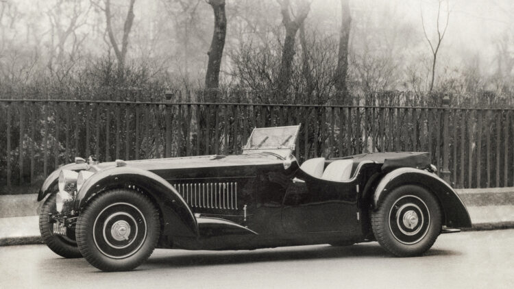 Historic 1937 Bugatti Type 57S with Grand Routier coachwork by Corsa