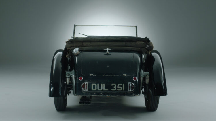 Rear 1937 Bugatti Type 57S with Grand Routier coachwork by Corsa