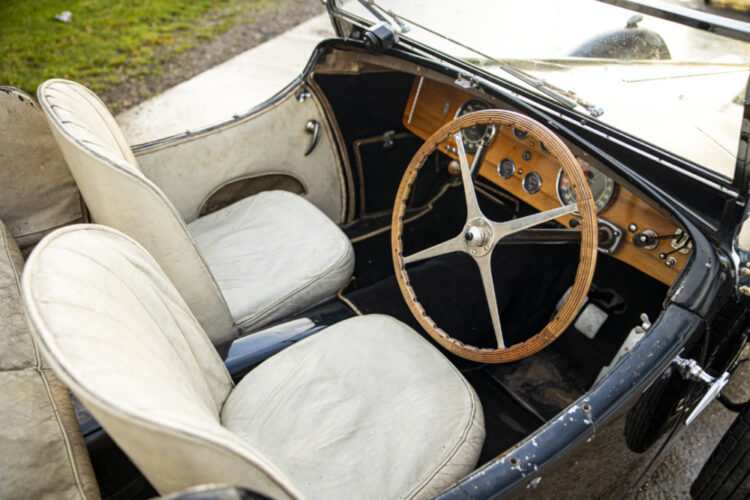 Interior of the 1937 Bugatti Type 57S