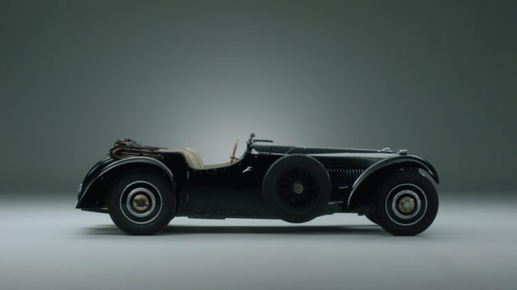 Profile 1937 Bugatti Type 57S with Grand Routier coachwork by Corsa on sale at Bonhams London 2021.