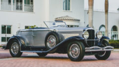1929 Duesenberg Model J 'Disappearing Top' Torpedo Convertible Coupe by Murphy on sale at the RM Sotheby's Amelia Island 2021 classic car auction