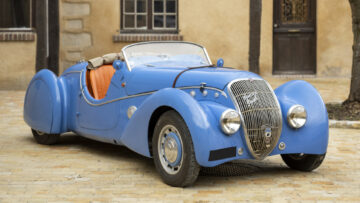 1938 Peugeot 402 DES Darl'mat Special Sport on offer in the Bonhams Les Grandes Marques du Monde à Paris 2021 Sale