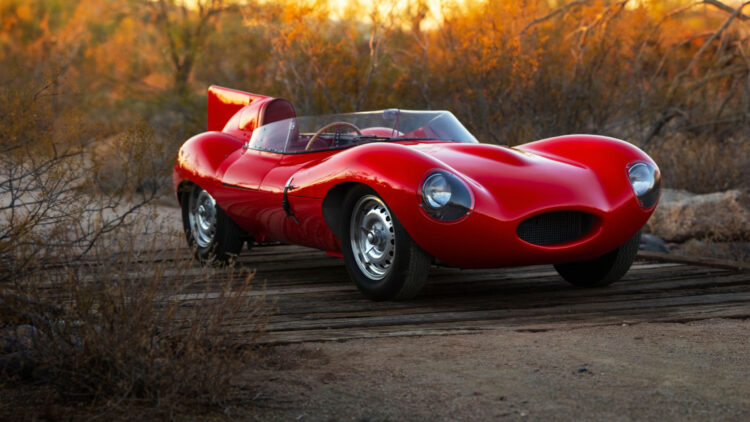 Red 1955 Jaguar D-Type on Offer at RM Sotheby's Scottsdale sale 2021