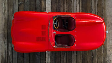 from above 1955 Jaguar D-Type on Offer at RM Sotheby's Scottsdale sale 2021