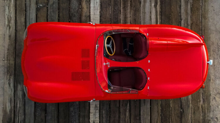 from above 1955 Jaguar D-Type on Offer at RM Sotheby's Scottsdale sale 2021