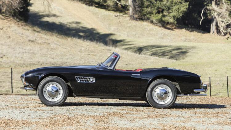 Black 1959 BMW 507 Series II Roadster on offer at Bonhams Scottsdale Auction 2021