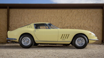 Profile yellow 1968 Ferrari 275 GTB/4 by Scaglietti on sale at RM Sotheby's Amelia Island 2021 auction