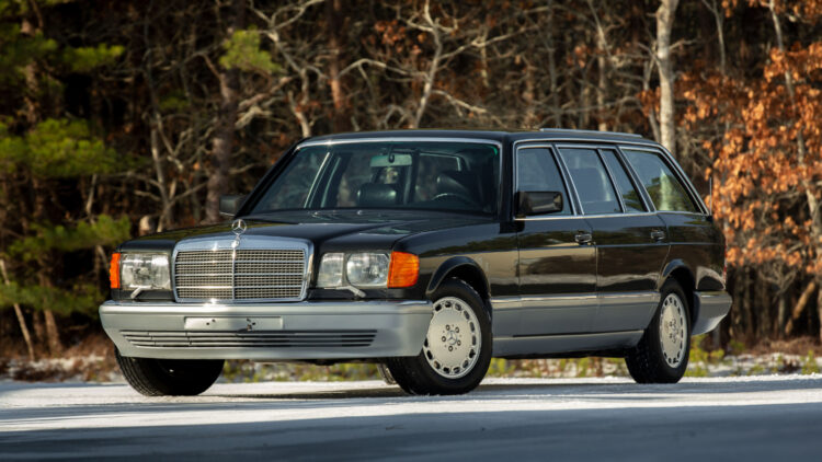 1990 Mercedes-Benz 560 TEL Estate by Caro on offer at RM Sotheby's Scottsdale Arizona classic car auction 2021