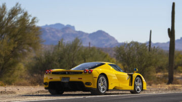Yellow 2003 Ferrari Enzo on offer at RM Sotheby's Scottsdale Arizona Sale 2021
